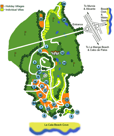 La Manga Map Accommodation Map | La Manga   Design Holidays